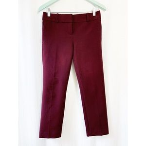Ann Taylor maroon straight leg pants
